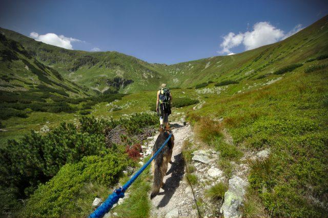 Aufstieg auf einen Gipfel in der westlichen Hohen Tatra